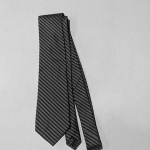 Black, Gray & white striped Calvin Klein tie